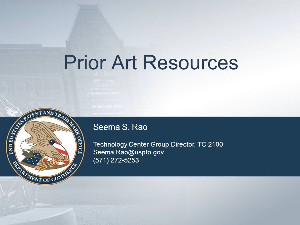 Prior Art Resources Seema S.