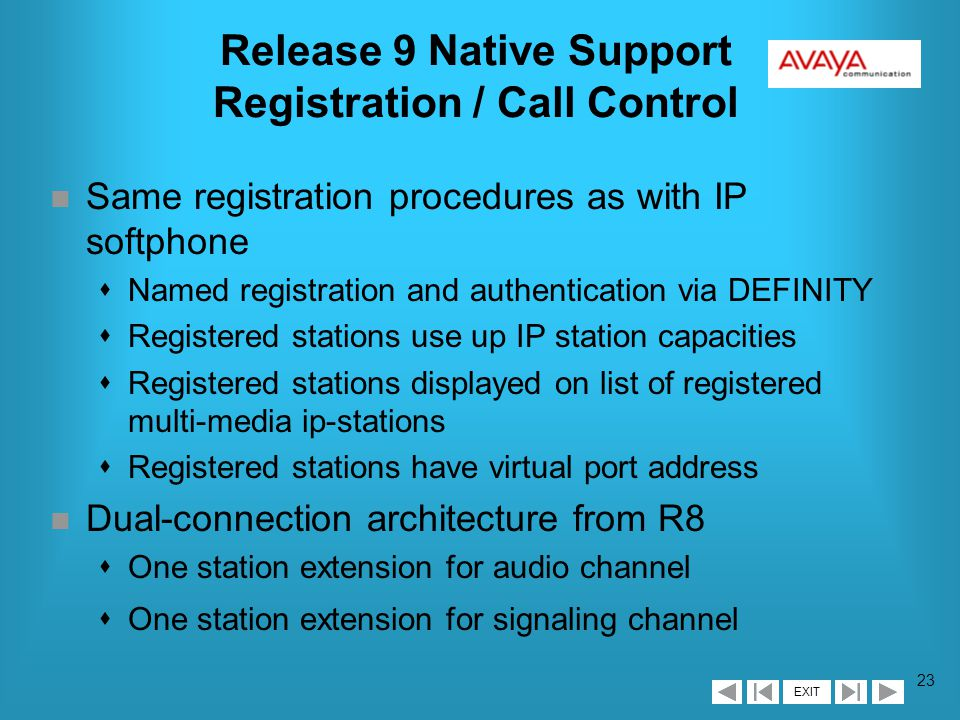 EXIT 22 Release 9 Native Support Other Administration n Add support for 46xx terminals on other screens sTerminal parameters lAdd 4600 to 6400/607A1 form lAudio parameters fixed - not downloadable sSystem-Parameters County-Options l64/84xx Display Character Set changed to Display Character Set sSystem-Parameters Features lAdd 4600 to Date Format on 607/6400 Terminals and On-hook Dialing on 607/6400/8400 Terminals