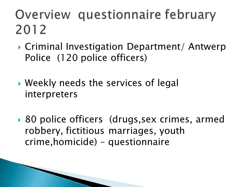 Antwerp police: Total number of interviews conducted in 2011 (i.e.