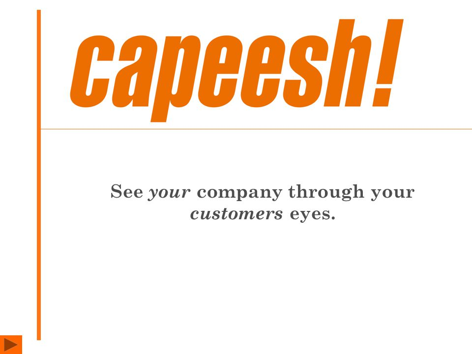 See your company through your customers eyes.