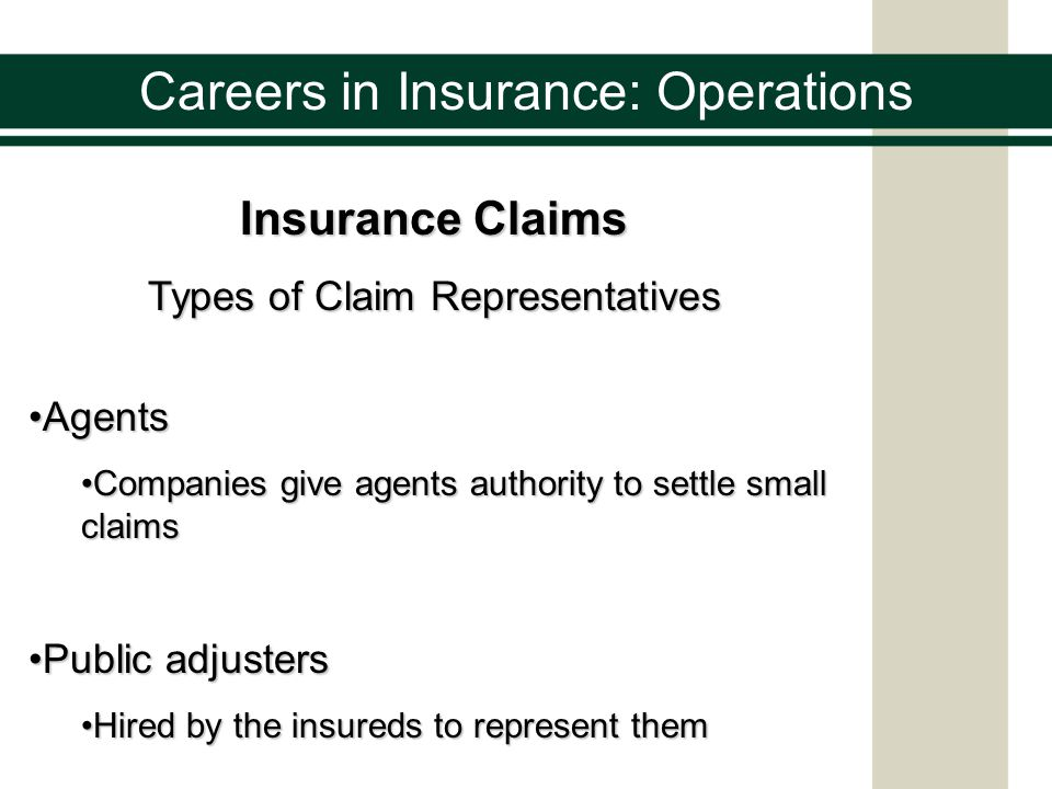 Careers in Insurance Advantages to a Career in Insurance Recognition Insurance professionals lead businesses and communities Rewards Competitive compensation matches job satisfaction