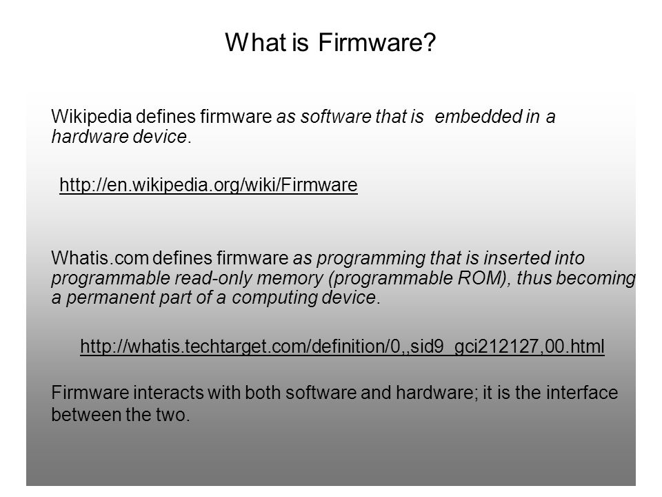 Why does Firmware need updating.
