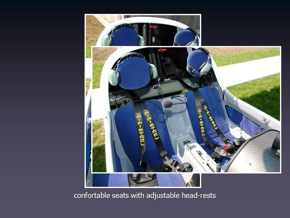 confortable seats with adjustable head-rests