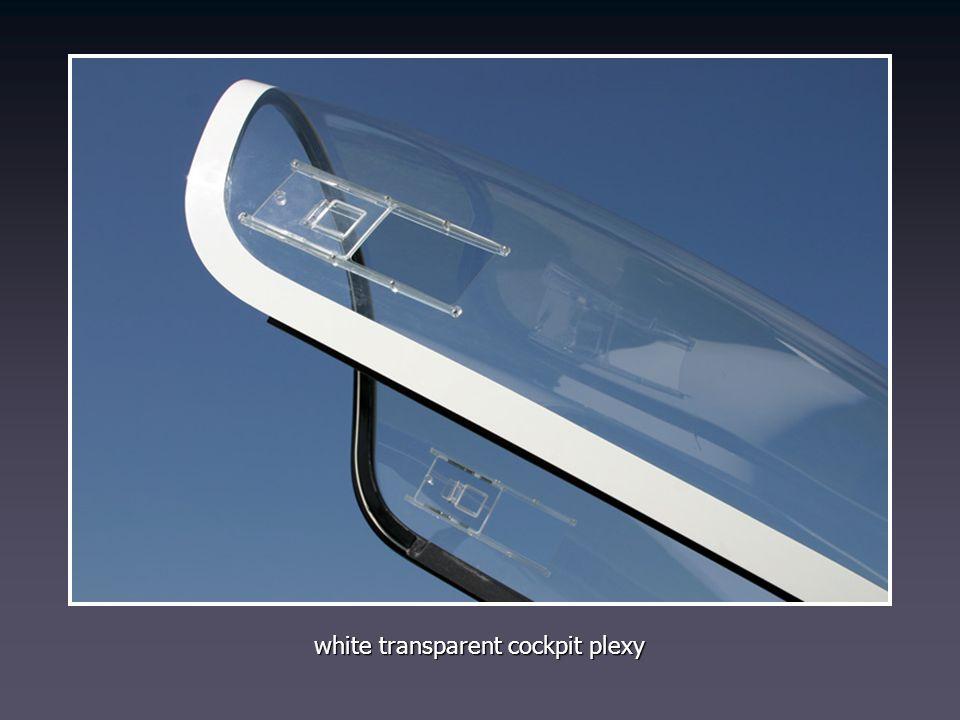 white transparent cockpit plexy