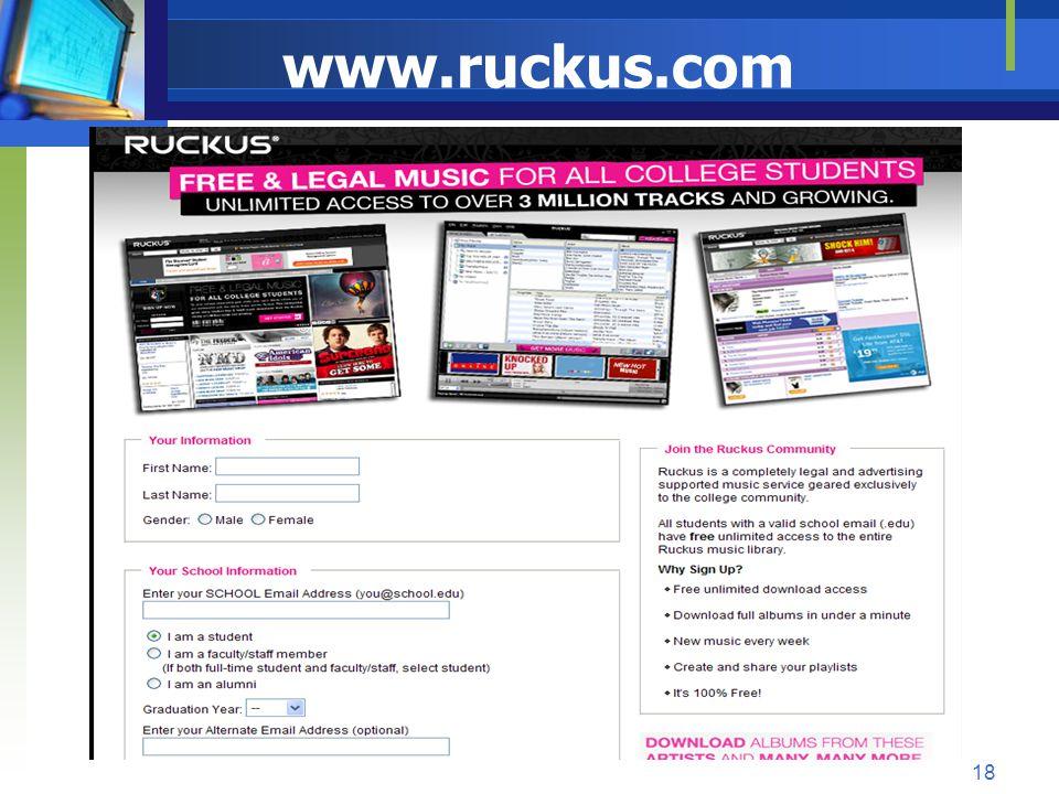 www.ruckus.com 18
