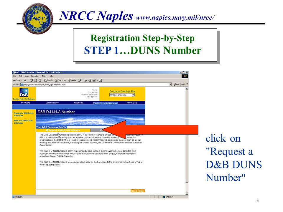 NRCC Naples www.naples.navy.mil/nrcc/ 5 click on