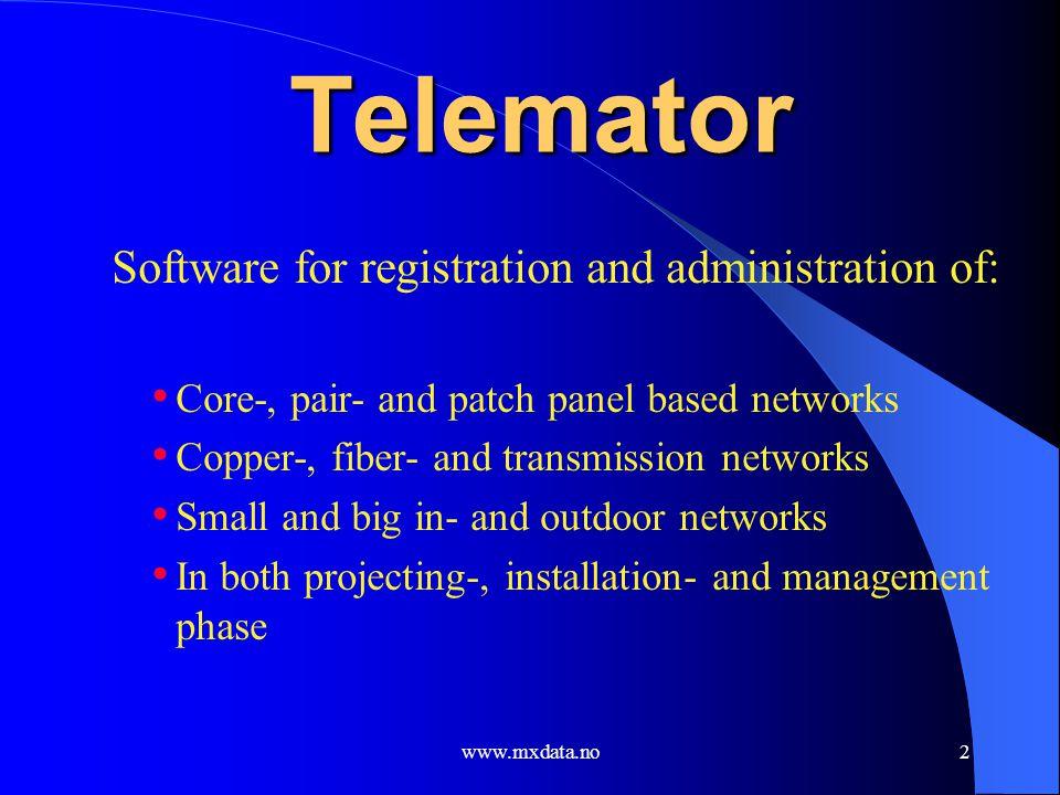 www.mxdata.no3 Telemator – a common memory