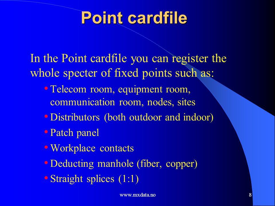www.mxdata.no19 Circuit cardfile screen