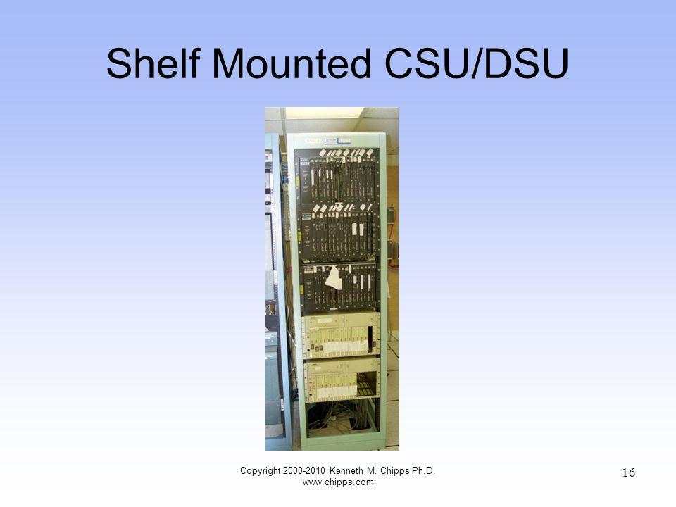 Shelf Mounted CSU/DSU Copyright 2000-2010 Kenneth M. Chipps Ph.D. www.chipps.com 16