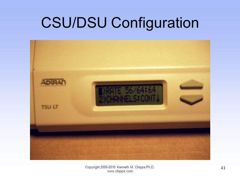 CSU/DSU Configuration Copyright 2000-2010 Kenneth M. Chipps Ph.D. www.chipps.com 41