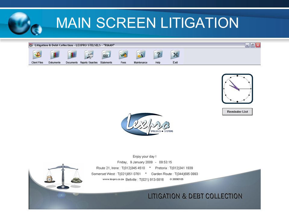 MAIN SCREEN LITIGATION