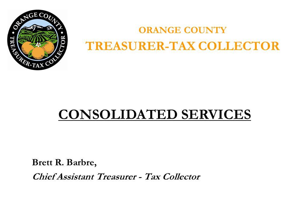 ORANGE COUNTY TREASURER-TAX COLLECTOR Brett R.