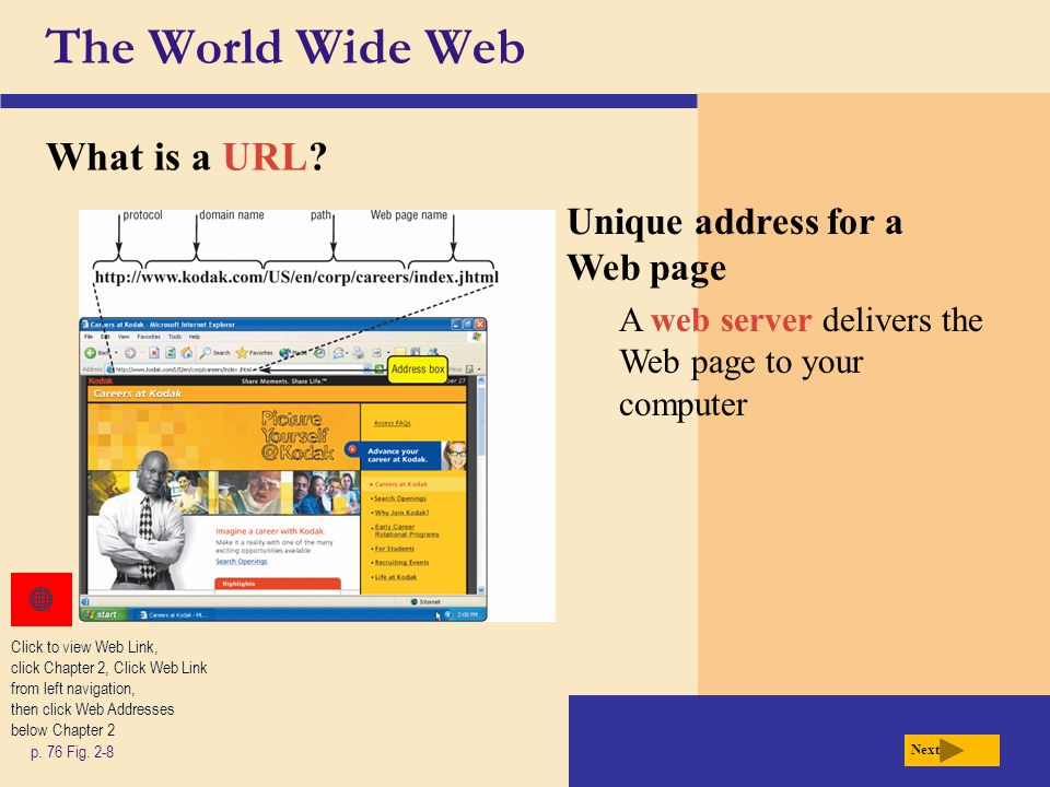 The World Wide Web What is a hyperlink (link).p.