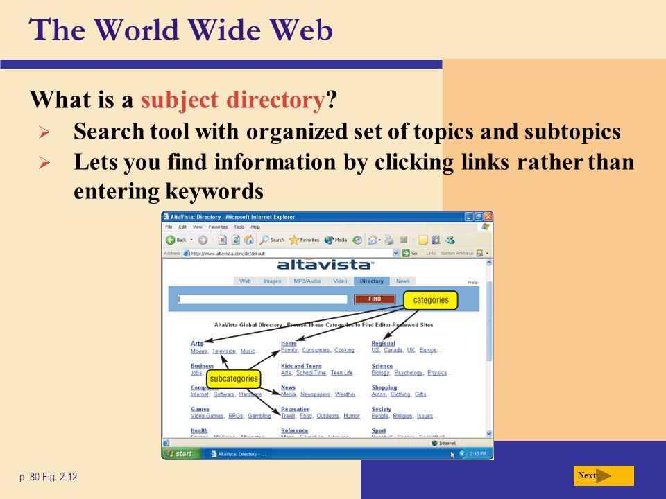 The World Wide Web What are the eight basic types of Web sites.