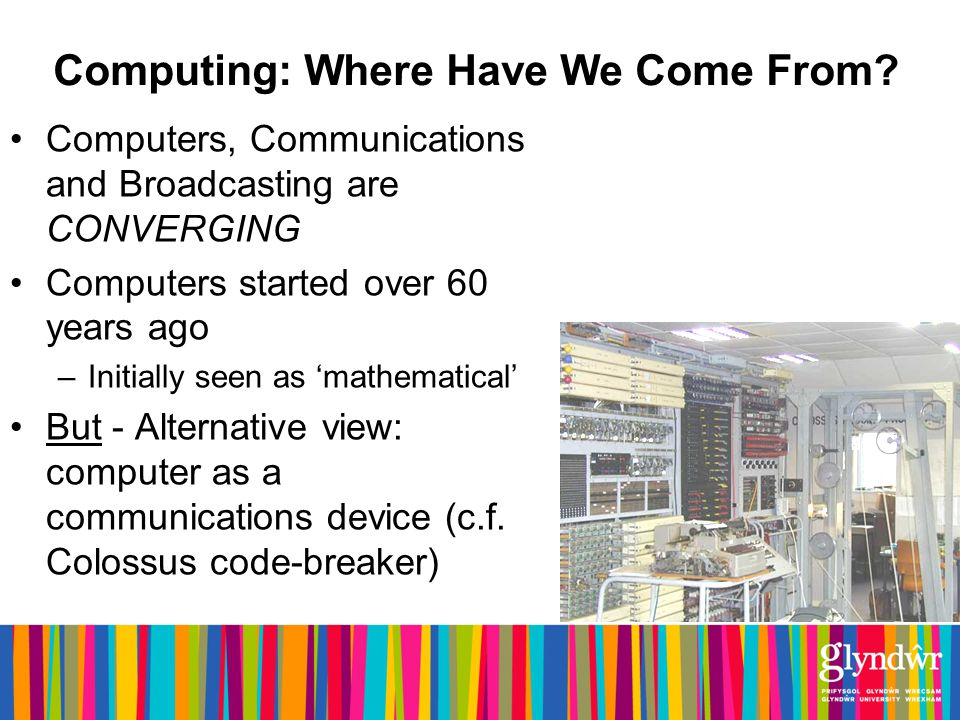 Computing: Where Have We Come From.