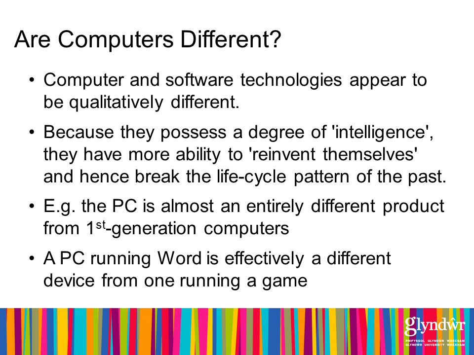 Are Computers Different. Computer and software technologies appear to be qualitatively different.