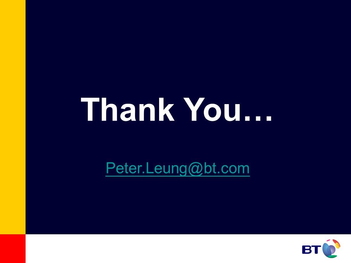 Thank You… Peter.Leung@bt.com