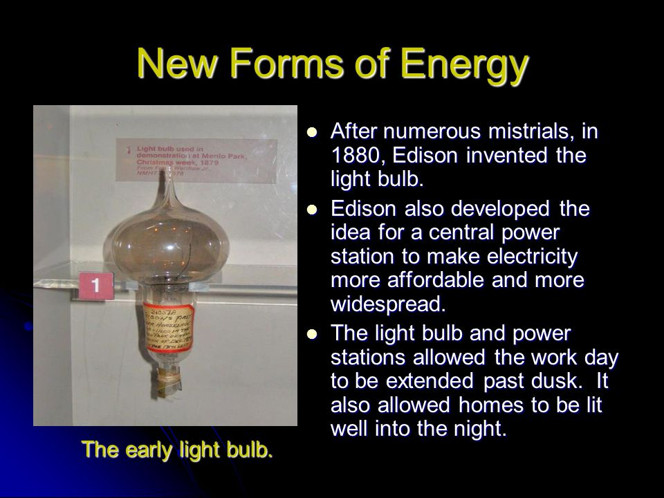 New Forms of Energy Invented a way to transmit electricity through an alternating current.