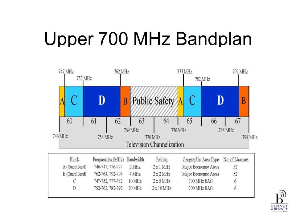 Upper 700 MHz Bandplan