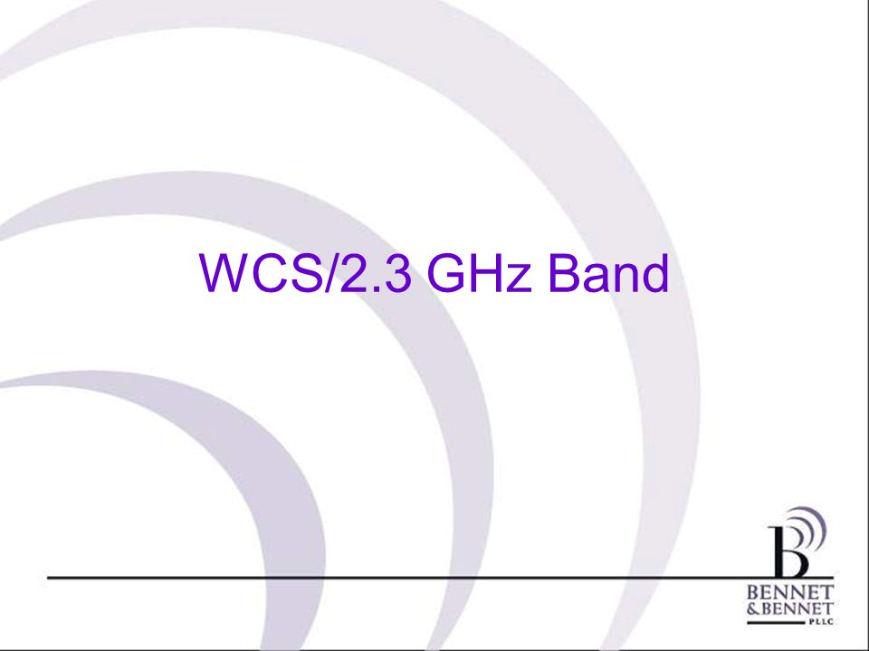 WCS/2.3 GHz Band