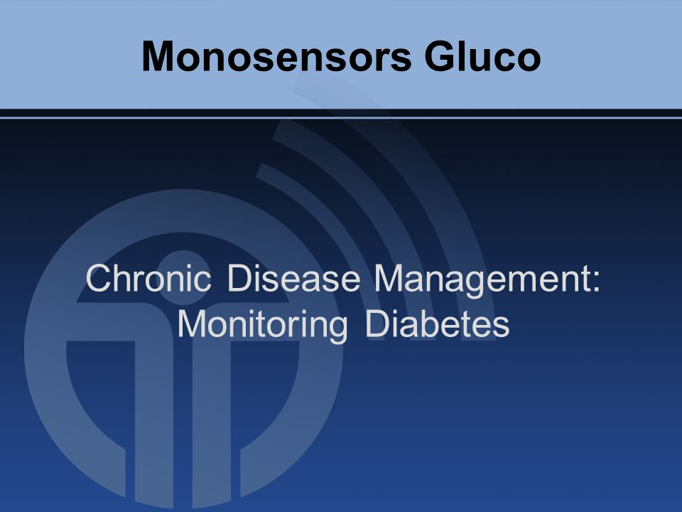 Monosensors Gluco Chronic Disease Management: Monitoring Diabetes