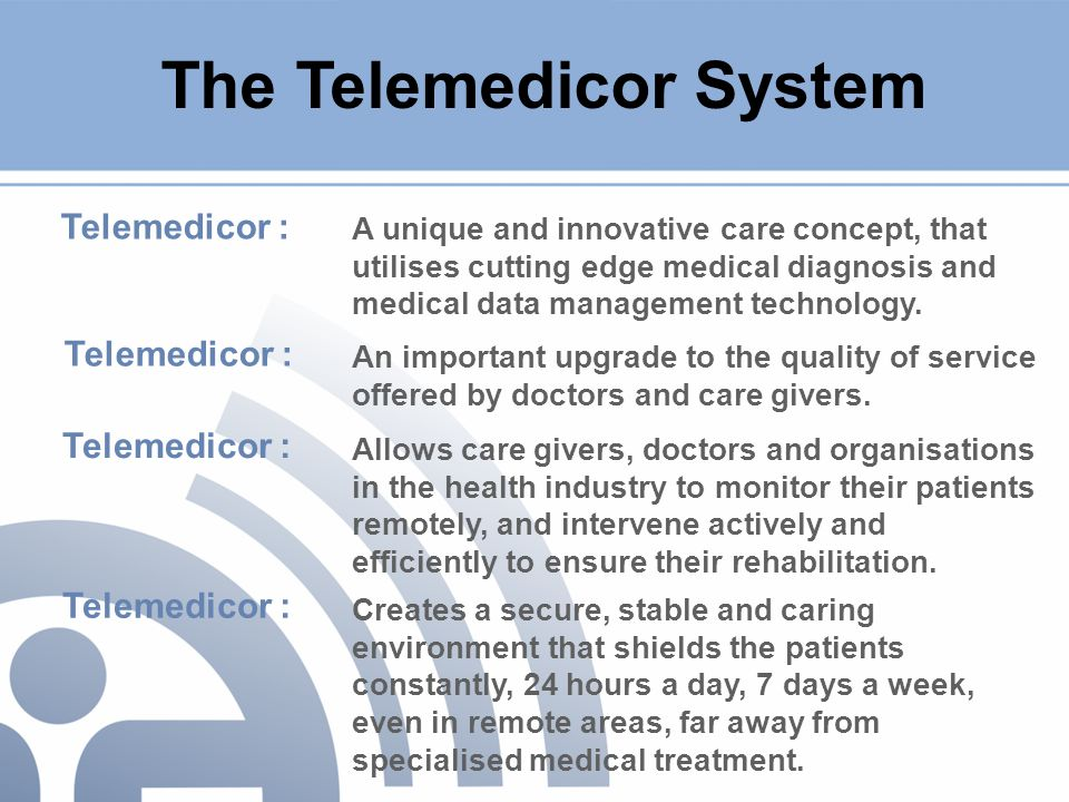 A unique and innovative care concept, that utilises cutting edge medical diagnosis and medical data management technology.
