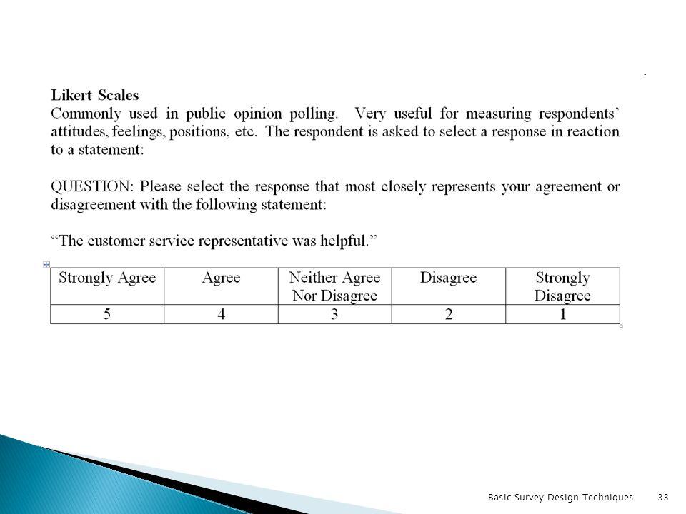 Basic Survey Design Techniques33