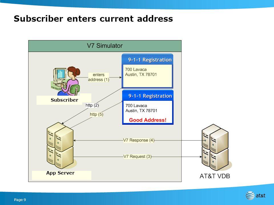 Page 9 Subscriber enters current address App Server Subscriber