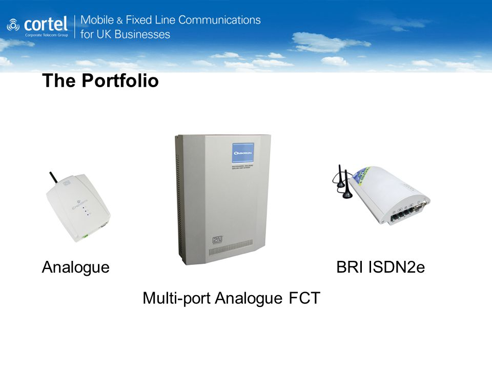 The Portfolio AnalogueBRI ISDN2e Multi-port Analogue FCT