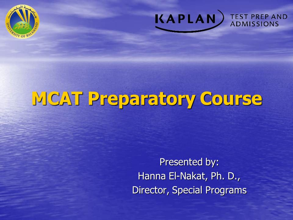 Why an MCAT Preparatory Course.