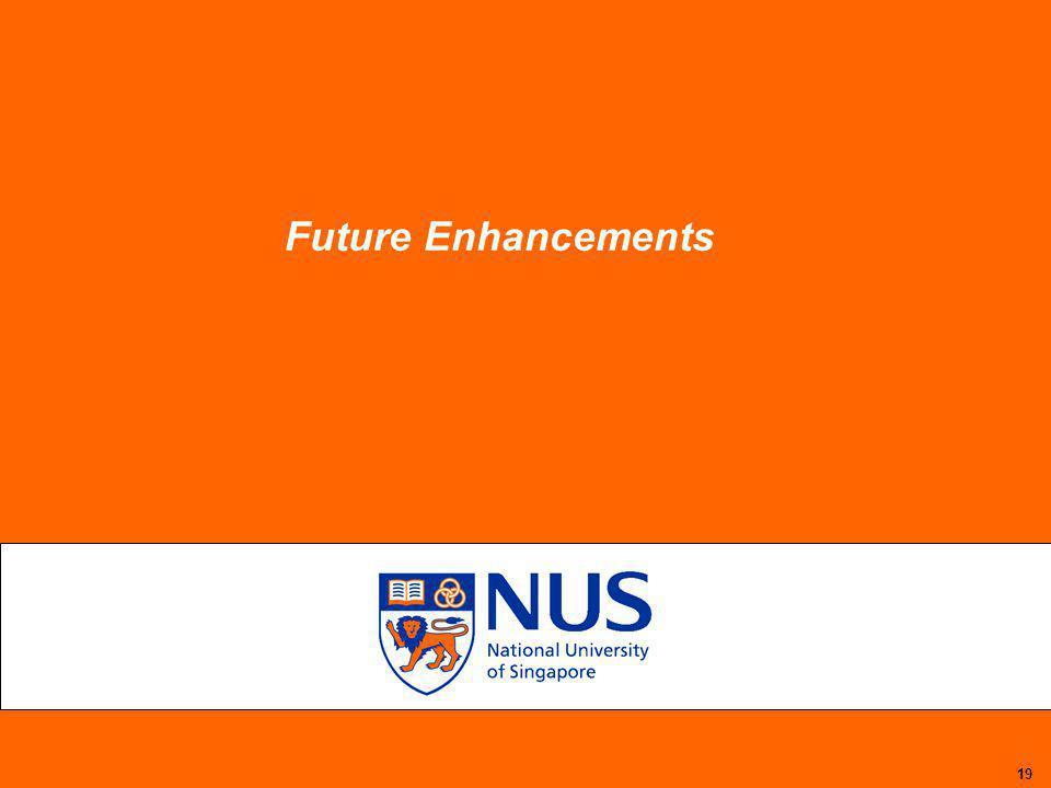 19 Future Enhancements