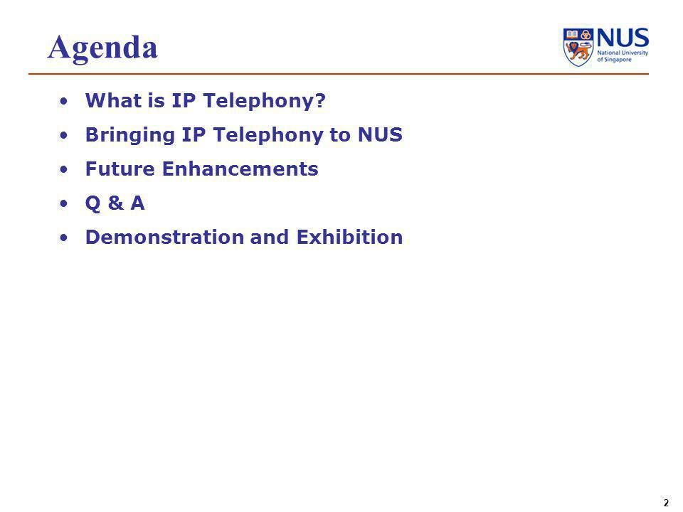 2 Agenda What is IP Telephony.