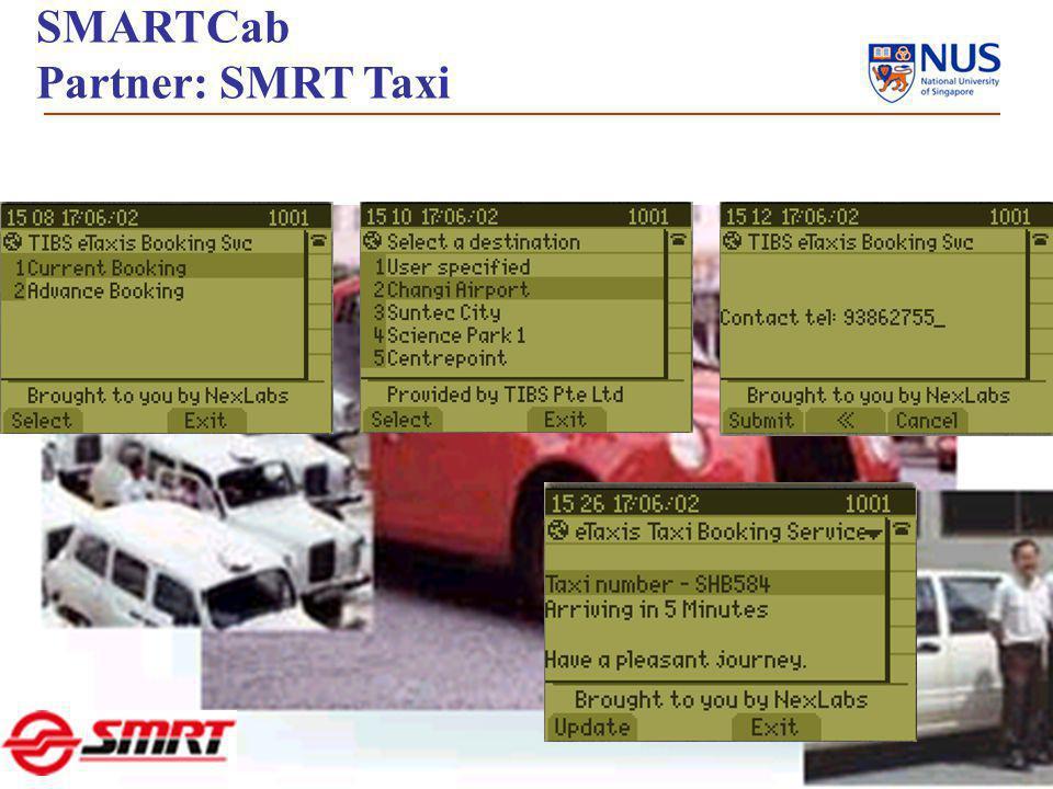 7 SMARTCab Partner: SMRT Taxi