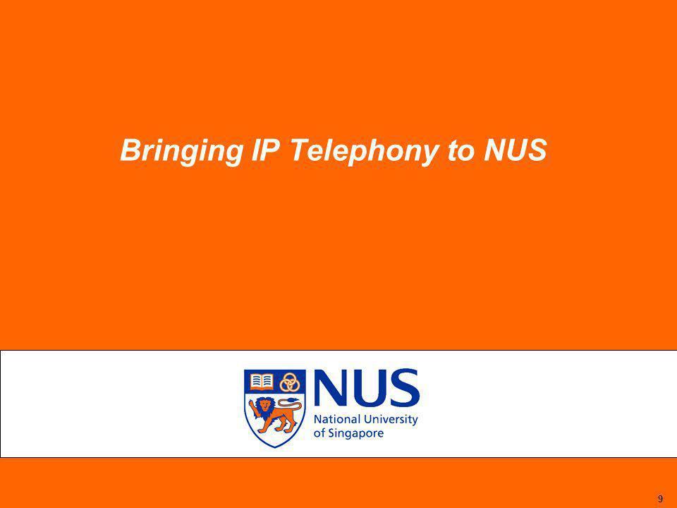 9 Bringing IP Telephony to NUS