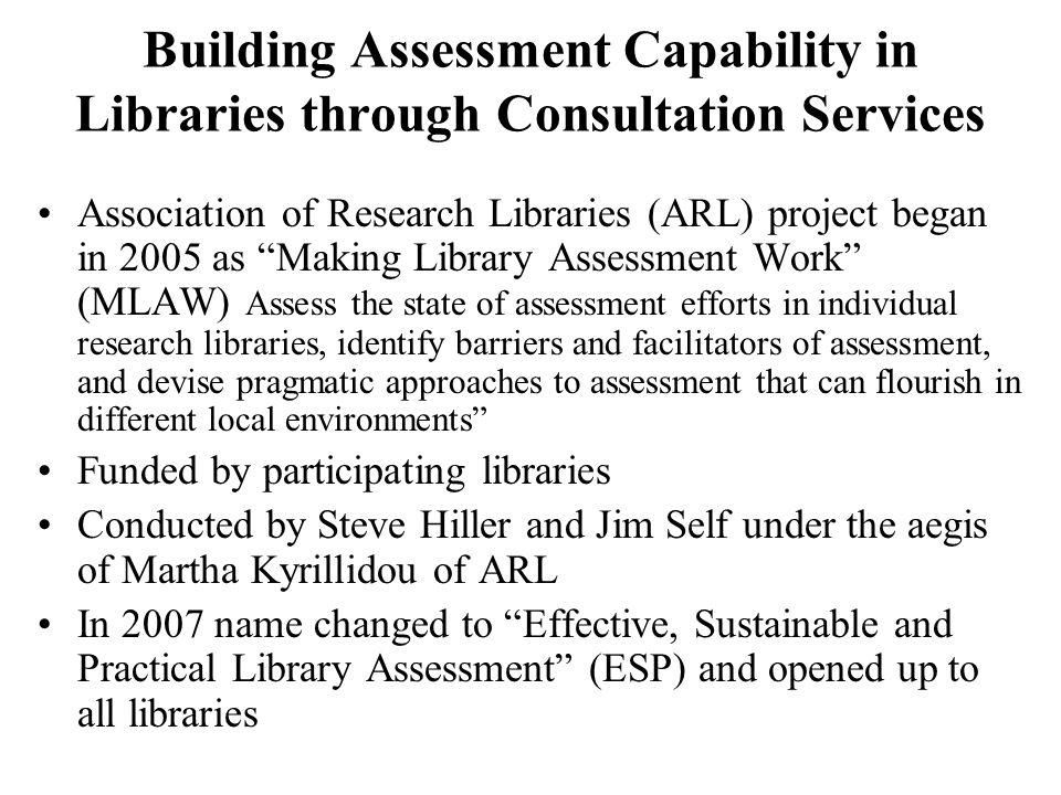 MLAW/ESP: Data Collection Methods Pre-Visit Survey on assessment activities, needs etc.