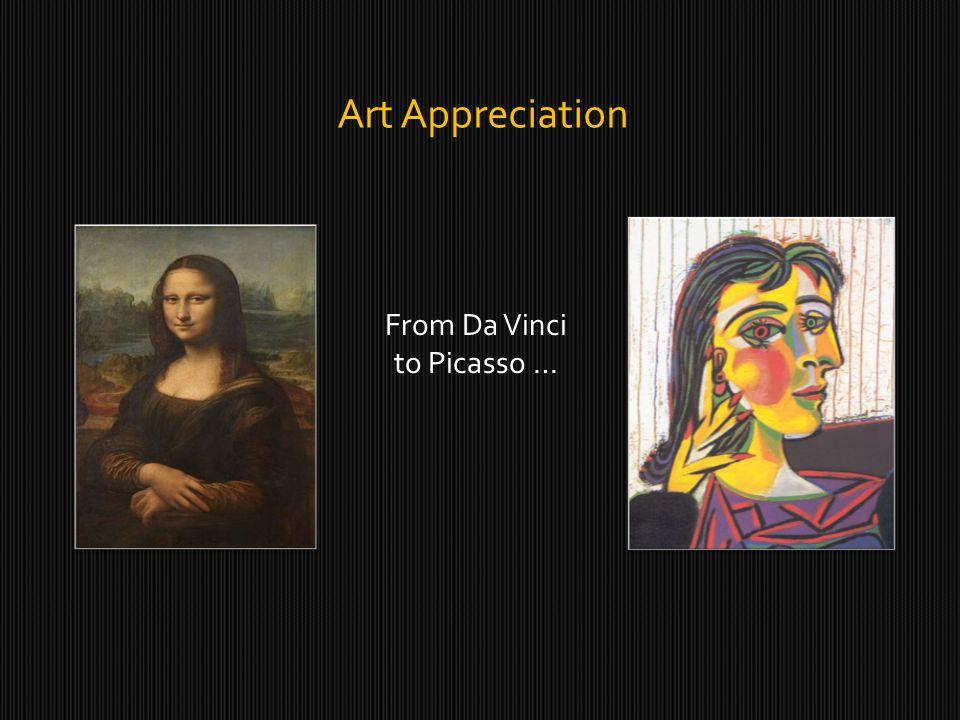 Art Appreciation From Da Vinci to Picasso …
