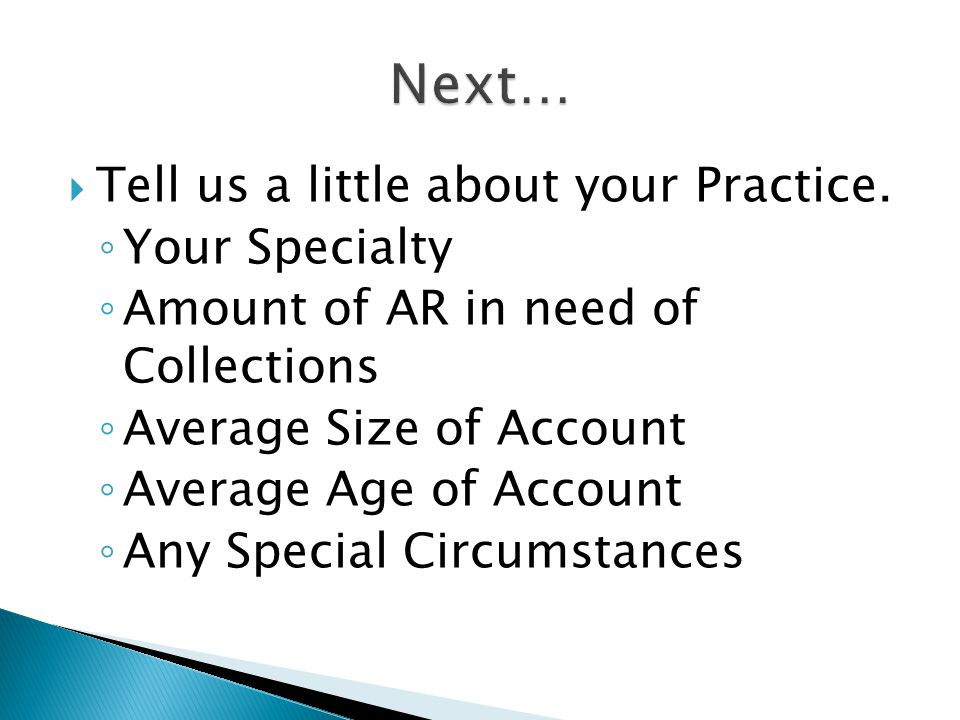 Tell us a little about your Practice.