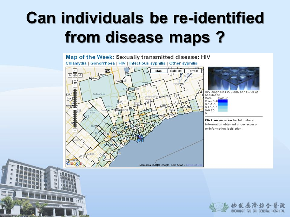 Can individuals be re-identified from disease maps ?