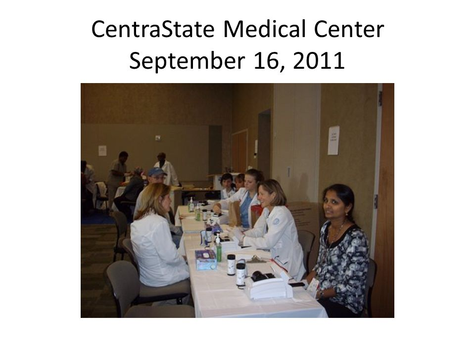 CentraState Medical Center September 16, 2011