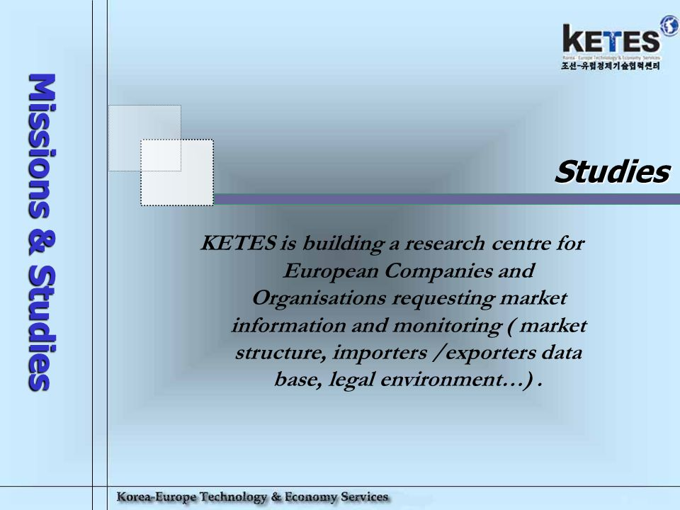 Korea-Europe Technology & Economy Services 19 Web site