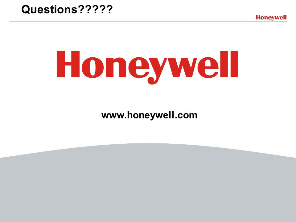 13 File Number www.honeywell.com Questions?????