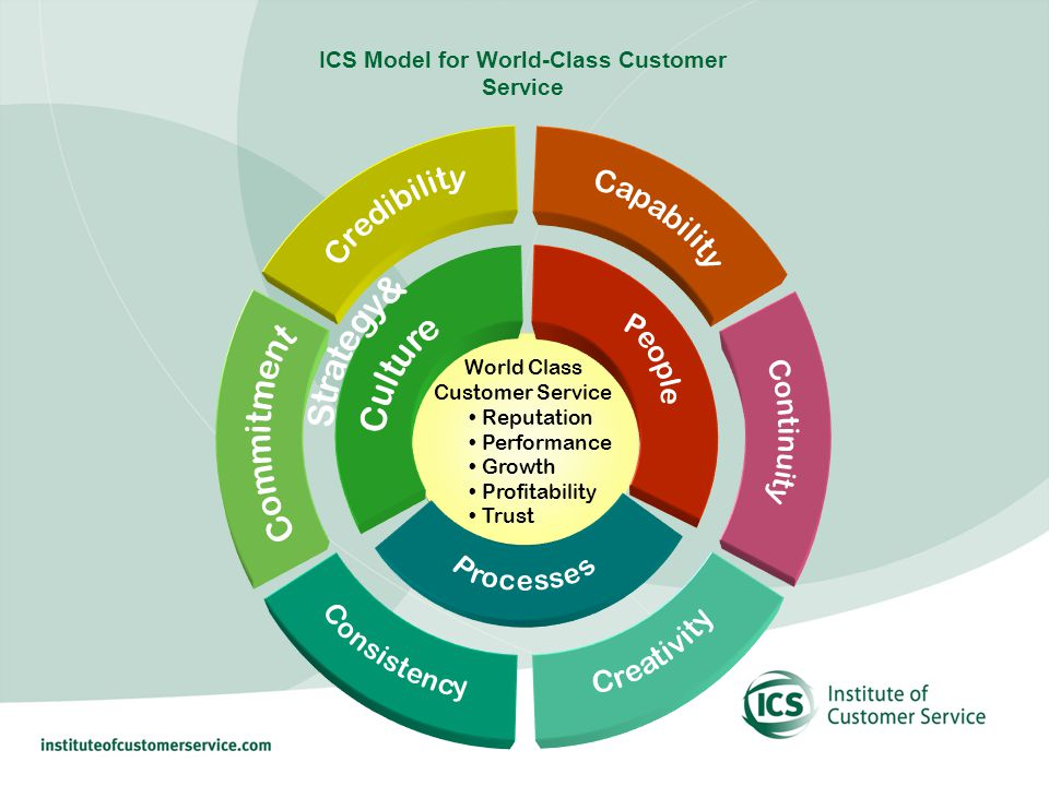 World Class Customer Service Reputation Performance Growth Profitability Trust ICS Model for World-Class Customer Service