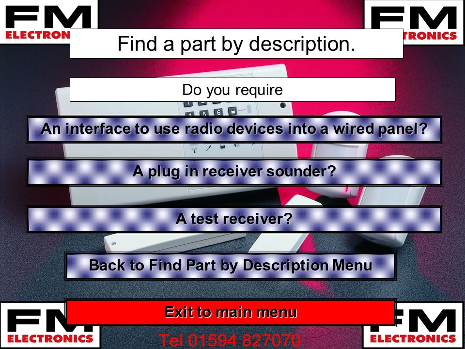 Find a part by description.An interface to use radio devices into a wired panel.