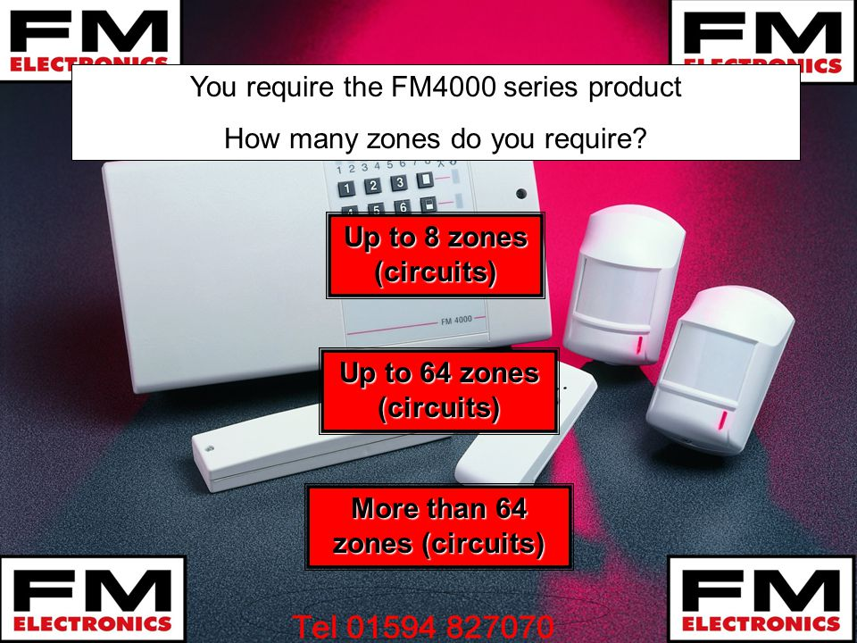 You require the FM4000 series product How many zones do you require.
