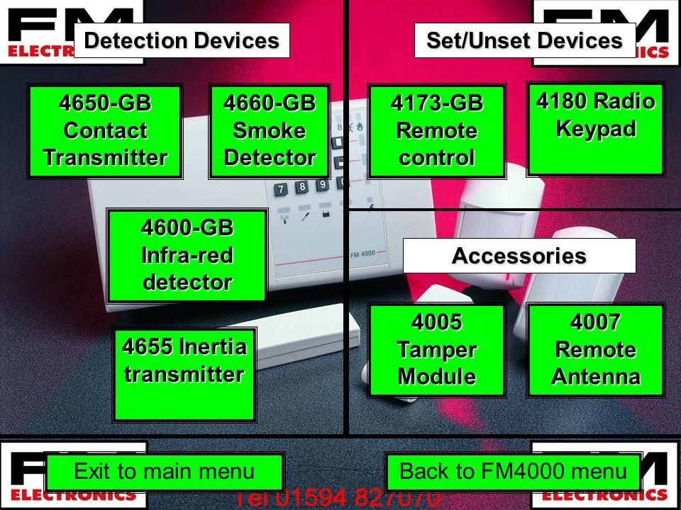 4600-GB Infra-red detector 4600-GB Infra-red detector 4650-GB Contact Transmitter 4650-GB Contact Transmitter 4655 Inertia transmitter 4655 Inertia tr