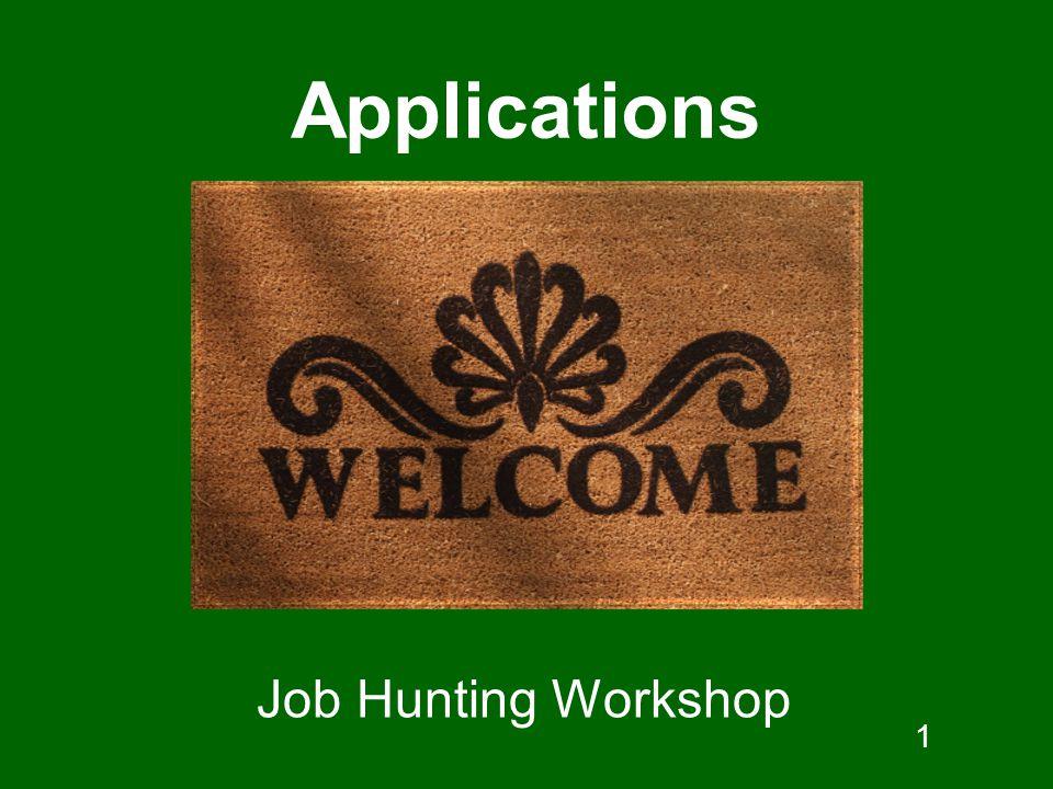 1 Applications Job Hunting Workshop