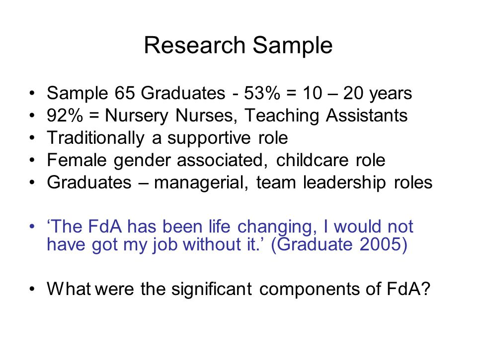 All respondents viewed the FdA contribution to professional learning and practice -To a great extent -To some extent Its been such a learning journey (Interview 1) Contribution of the Foundation Degree