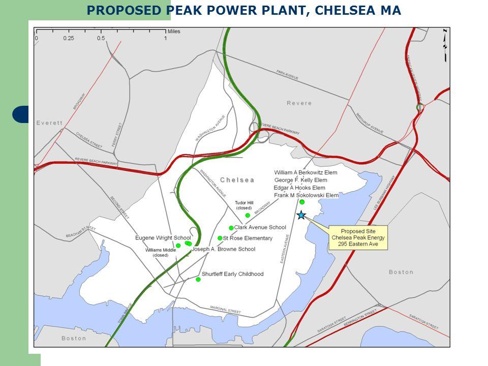 PROPOSED PEAK POWER PLANT, CHELSEA MA