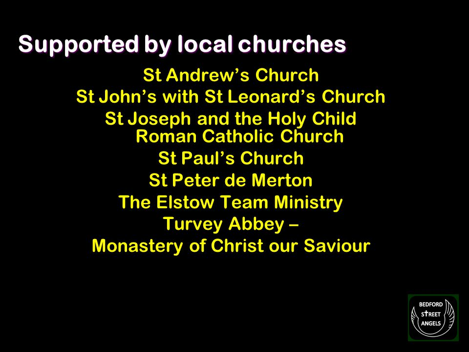 St Andrews Church St Johns with St Leonards Church St Joseph and the Holy Child Roman Catholic Church St Pauls Church St Peter de Merton The Elstow Te