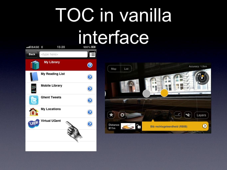 TOC in vanilla interface